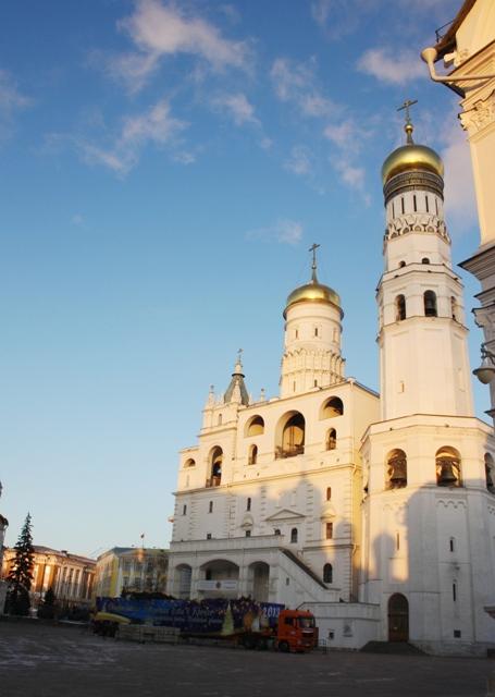 Колокольня «Иван Великий», Успенская звонница и Филаретова пристройка.