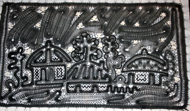 Сказка о кружеве, панно коклюшечного кружева, Ларионова, 2008 год