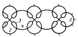 Схема 1 для выполнения мотива воротника