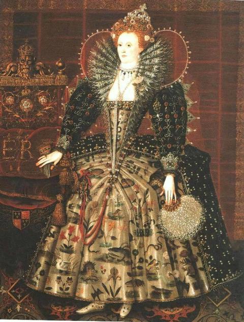 Портрет Елизаветы I. Около 1599 года.
