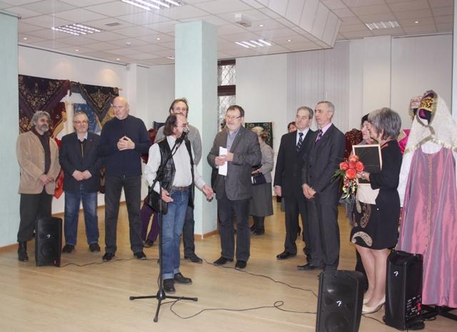 Открытие выставки в честь 80-летия Нижегородского Союза художников.