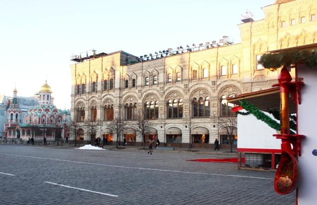 Москва, Красная площадь, вид на здание ГУМ, 25 февраля 2013.