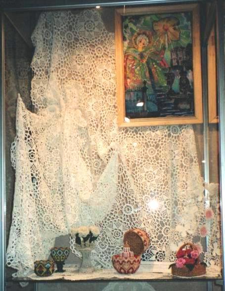 Кружевные работы О. Ф. Журавлевой. 1980-е годы.