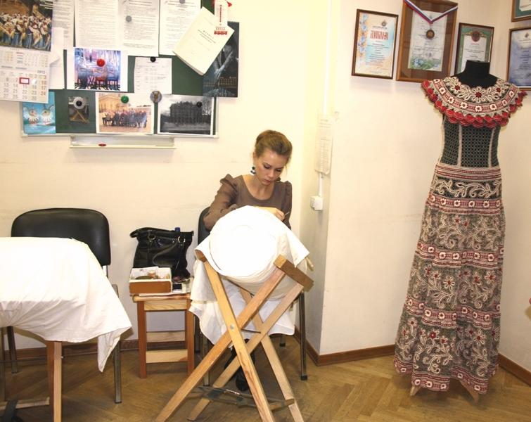 Кафедра кружевоплетения ВШНИ, Санкт-Петербург, 8 ноября 2013 г.