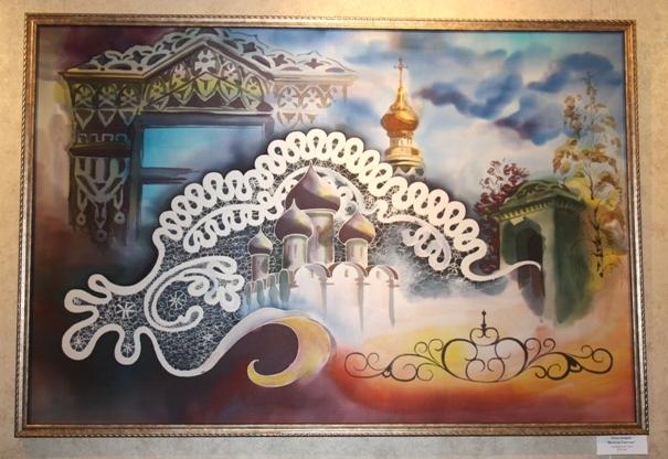 Роман Захаров. «Вологда светлая», натуральный шелк, 2013 г.
