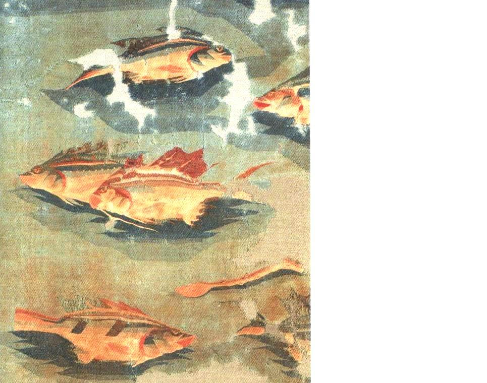 Лион. Музей тканей. Гобелен, лен, шерсть. 1.38 х 0.87 Египет. Антиной. II – III н.э. Найден экспедицией А. Гайе (( Alber Gayet ) в Антинойе в 1906 г.