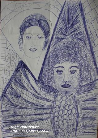 «Ангел и красавица». О.Ф. Журавлева.  18 августа 2003 г.