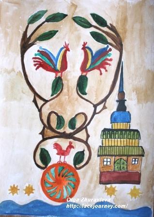 «Древо жизни». Архангельск. Акварель. О.Ф. Журавлева.  2 мая 2001 г.
