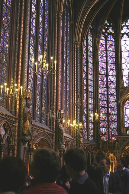 Париж (Paris). Капелла Сент-Шапель (1245-1248гг.).