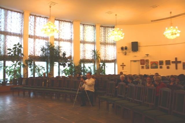 Знаменитый зал ЦДРИ (Центральный зал работников искусств), Москва, март 2014 г.