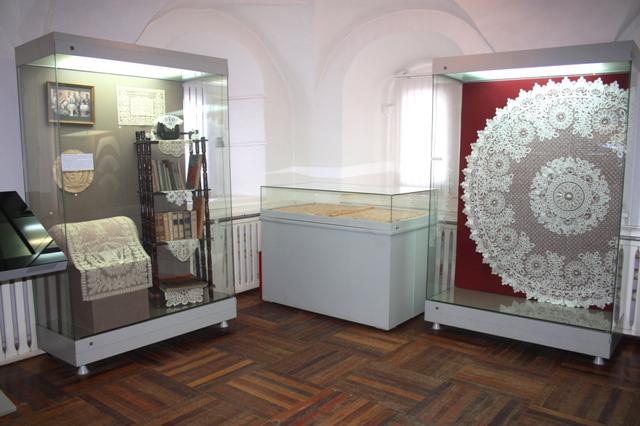 Рязань. Кремль. Выставка елецкого кружева.