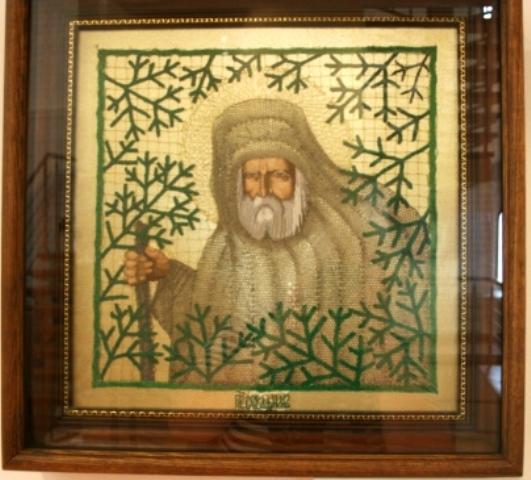 Икона «Святой Преподобный Серафим Саровский». 2006 г. Н. С. Кирсанова.