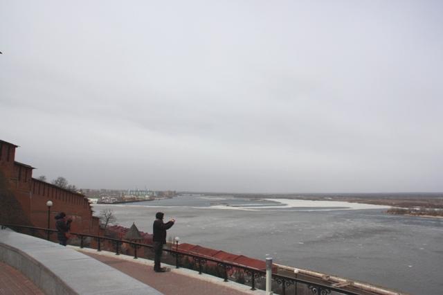 Нижний Новгород. Вид на Стрелку.