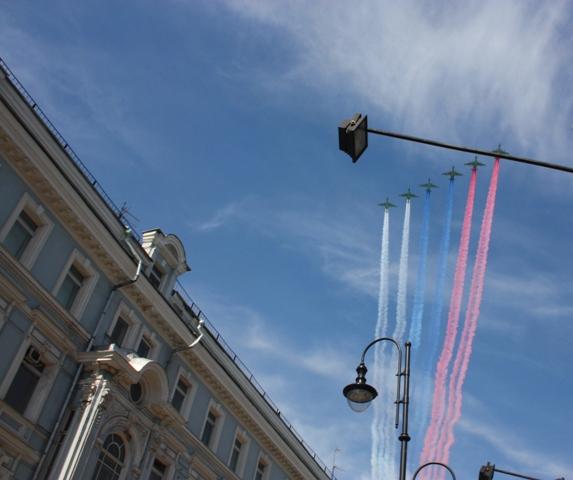 9 мая 2015 года. Москва. Парад Победы.