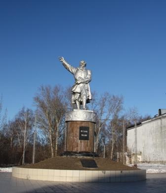 Балахна. Памятник К. Минину (1570-1616), национальному герою России.