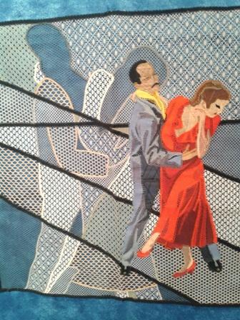 Панно. Коклюшечное плетение. Выставка кружева из Ле-Пюи-ан-Веле в Ольюле (Франция).
