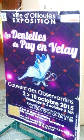 Афиша выставки кружева из Ле-Пюи-ан-Веле в Ольюле