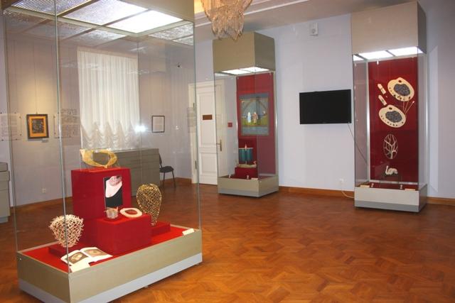 Вологда, часть выставки «Датское кружево: история и современность».