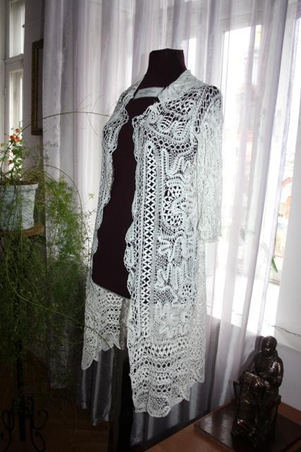 Жакет женский. Коклюшечное плетение, х/б нити, конец  XIX в.