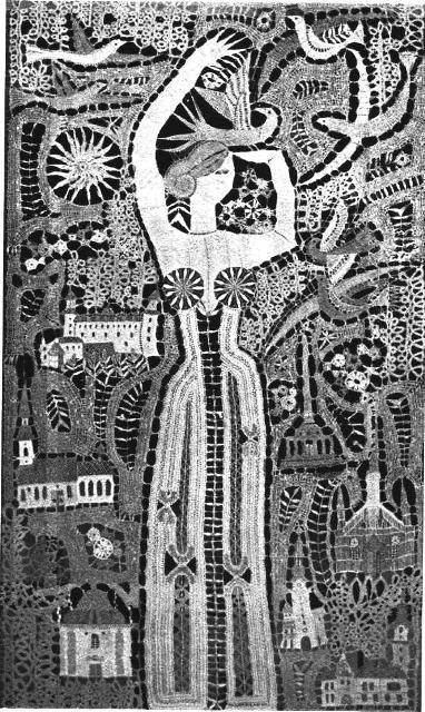 Елена Голециова. 1969-1970. Панно «Братислава. Красота на Дунае».