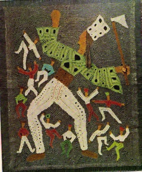 """Елена Голециова. 1960. Панно «Танец разбойников»  (""""Tancujci  zboinici"""")."""