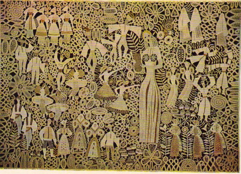 Елена Голециова. Панно «Песня родной земли» («Pieseň rodnej zeme»), 1971-1973.