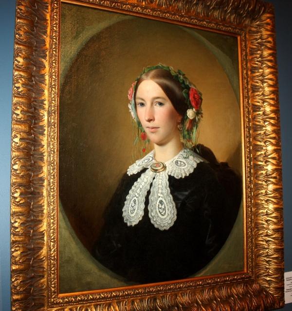 Худяков В. Г. (1826-1871). Портрет неизвестной. 1856. Холст, масло. Государственная Третьяковская галерея.
