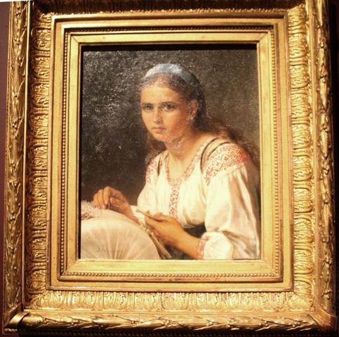 Верещагин В. П. (1835 – 1909). Кружевница, 1890 г. Омский областной музей изобразительных искусств имени М. А. Врубеля.
