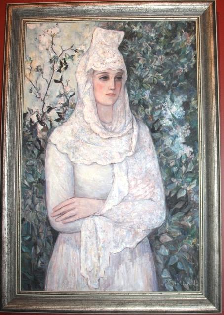 Гончарова Н. С. (1881 -1962). Испанка в белом. 1932. Холст, масло. Государственная Третьяковская галерея.