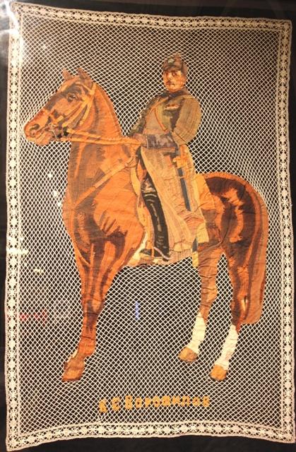 Панно «Климент Ефремович Ворошилов», Елец, Елецкий союз кружевниц, 1931 г.