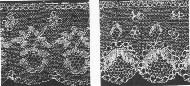 Образцы подольского мерного кружева из собрания Государственного Русского музея
