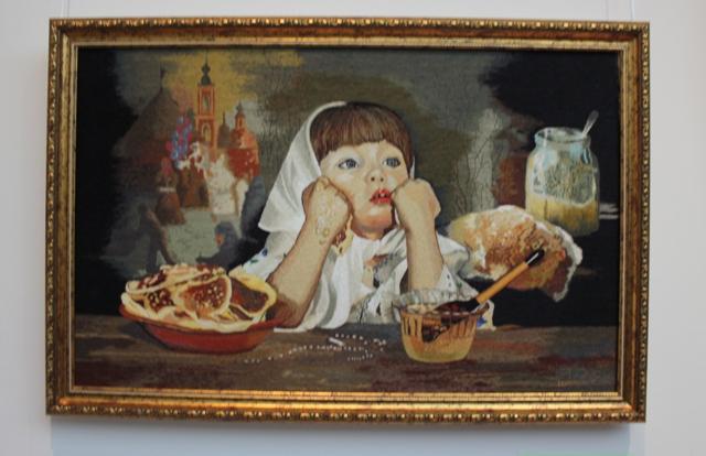 Шамшева И. Е., 1962 г.р., г. Тверь. Масленница, 2014 г. Х/б, мулине, вышивка гладью.