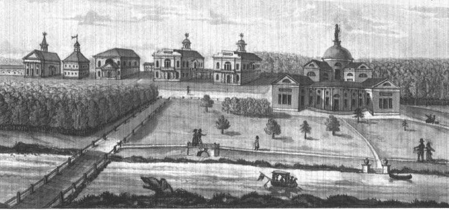 Усадьба Люблино. 1820- гг. Акварель. РНБ [2].