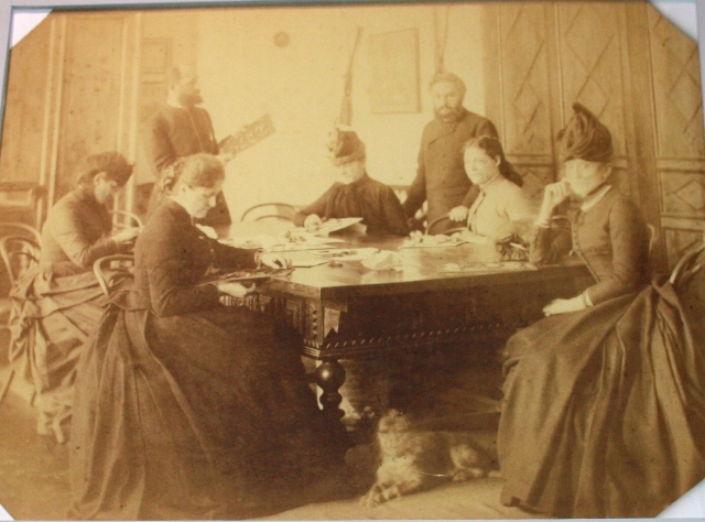 Фотография. А. В. Селиванов во время работы Рязанской ученой архивной комиссии 1884 -1893 гг. РИАМЗ. Копия.