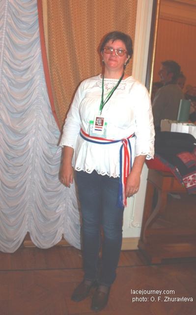 Вологда. III фестиваль «VITA LACE», 22 июня  2017 г. Кружевница из Хорватии.