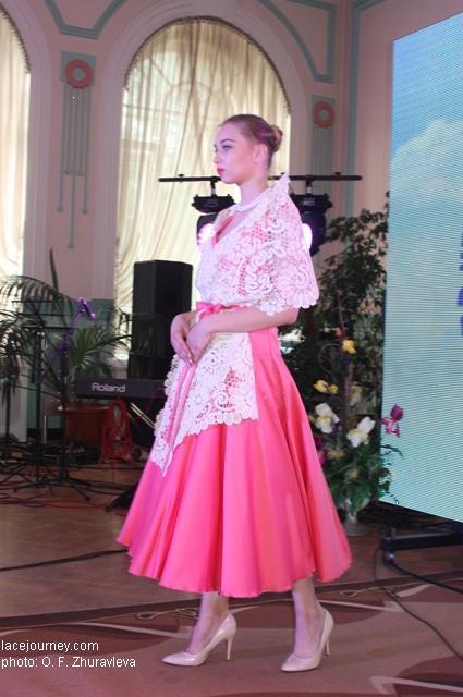 Вологда 2017 Фестиваль «VITA LACE»  Дефиле. Коллекция фирмы «Снежинка».