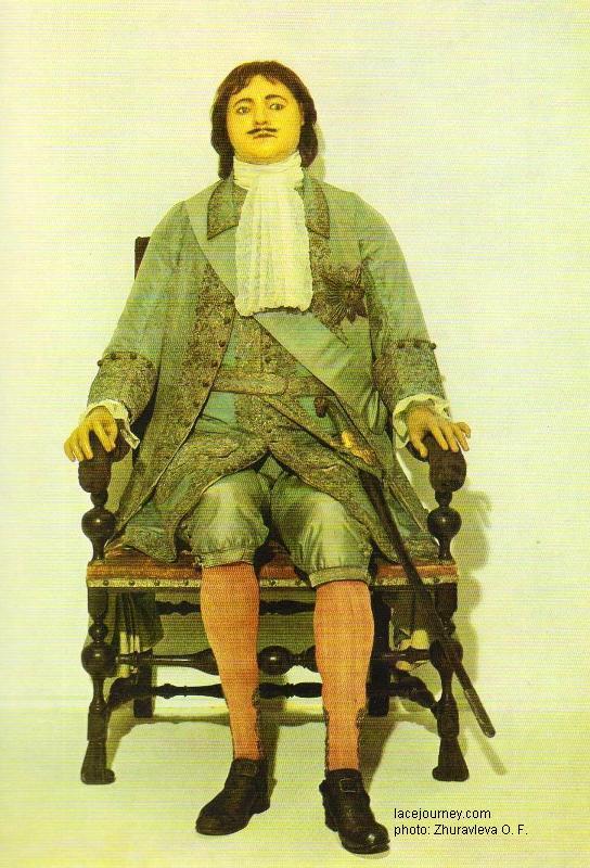 Б. – К. Растрелли. Восковая фигура. 1725. Государственный Эрмитаж.