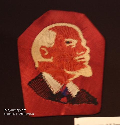 Панно кружевное «В. И. Ленин», 1920-30 гг. Сокол, Вологодская обл.