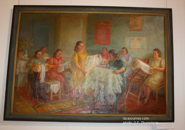 Картина «Вологодские кружевницы», 1948 г. Автор Киркиж А. М.