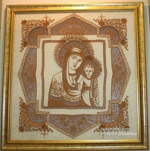 Грачева Ольга Александровна (р. 1971). Панно «Казанская Пресвятая Богородица», 2000 г.