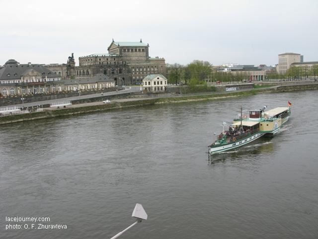 Дрезден. Прогулка на старом пароходике по Эльбе.