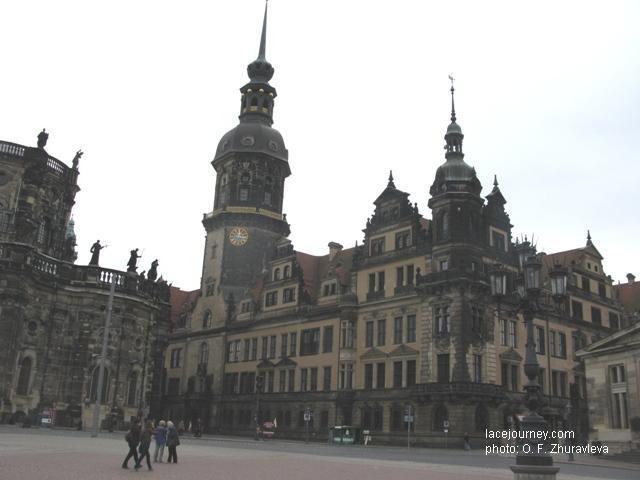 Дрезден. «Сторожевая башня» и северный флигель замка-резиденции.