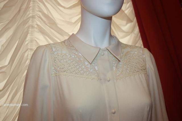 """Платье, рубашка (чехол), фрагмент.  Коллекция """"Русский шик"""", 2017."""