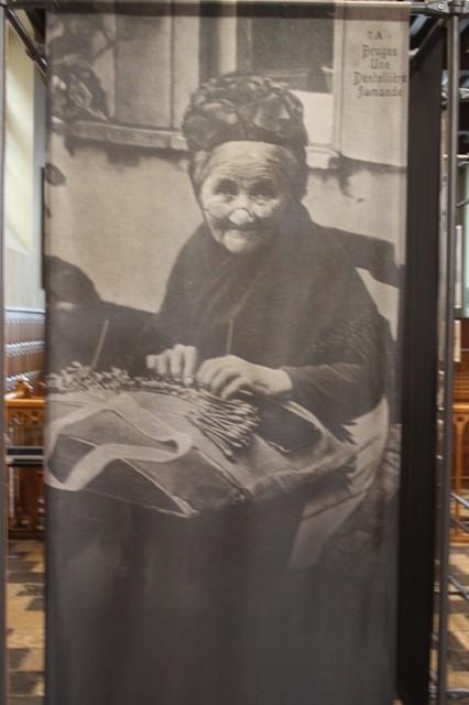 Брюгге посещение архива фотография кружевницы