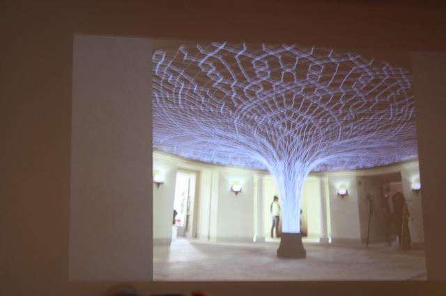 Брюгге, 18 августа 2018. Фото из лекции о современном кружевном искусстве М. Брюггеман.
