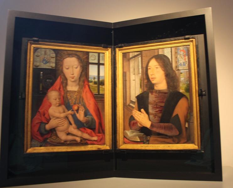 Ганс Мемлинг. Диптих Мартина Ниувенкове. 1487. Брюгге. Музей Мемлинга.