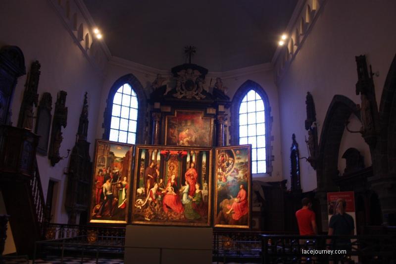 Ганс Мемлинг. Триптих  «Мистическая свадьба  Святой Екатерины». 1474-1479. Брюгге, Музей Мемлинга.