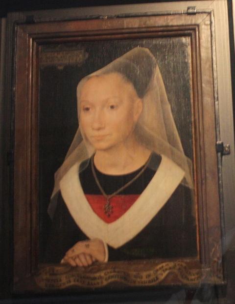 Ганс Мемлинг.  Портрет молодой женщины. 1480.  Брюгге, Музей Мемлинга.