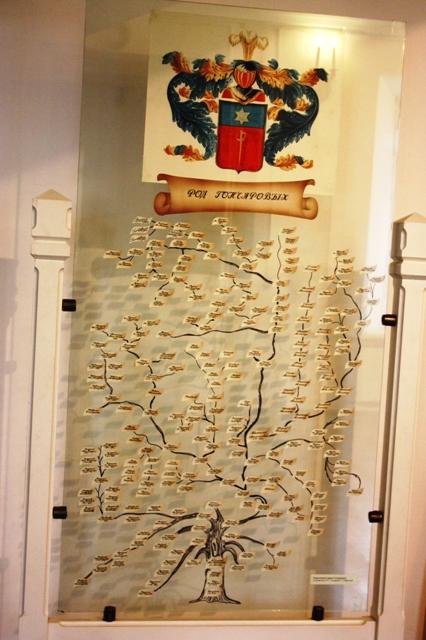 Калужская область, Музей –усадьба «Полотняный Завод». Родословное дерево Гончаровых, составленное Г. Ровенским в 1999 г., проживающим в Подмосковье.