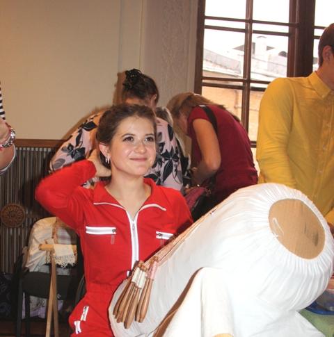 Вербенкина Елизавета (Рязань). Студентка ВШНИ (Рязань).  Парно-сцепная техника плетения. Фото: О. Ф. Журавлева.